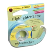 "Lee Products Removable Highlighter Tape, 1/2""W x 4""L, Blue, Bundle of 6, (LEE13979)"