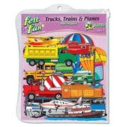 Trucks, Trains & Planes Flannelboard Add-On Set Pre-Cut