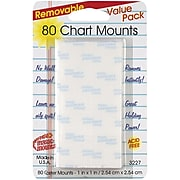 """Miller Studio Removable Chart Tabs, 1"""" x 1"""", 6 packs of 80 tabs (MIL3227)"""