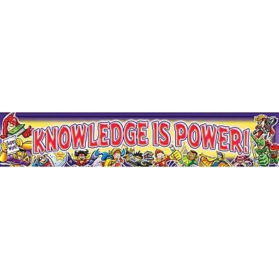 Knowledge is Power! Superheroes Banner