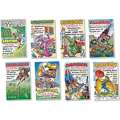 North Star Bulletin Board Sets, Math Superheros