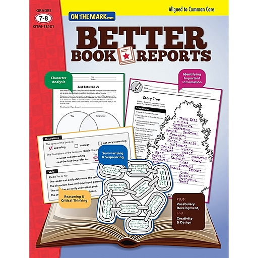 On The Mark Press Better Book Report Book