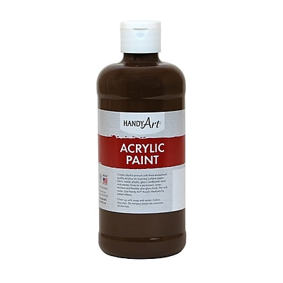Handy Art® Student Acrylic Paint, Burnt Umber, Certified AP Non-Toxic & Gluten-Free, 16oz RCP101090