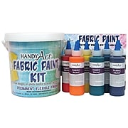 Handy Art Fabric Paint Kit, Regular Colors, Nine 4 oz bottles (RPC885060)