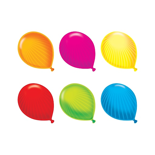 """Trend Enterprises 5.5"""" Party Balloons Classic Accents Variety Pack, Pack of 36 (T-10602)"""