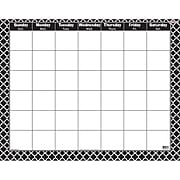 Trend Wipe-Off Monthly Calendar, Moroccan Black (T-27023)