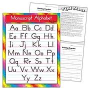Manuscript Alphabet (Zaner-Bloser) Learning Chart