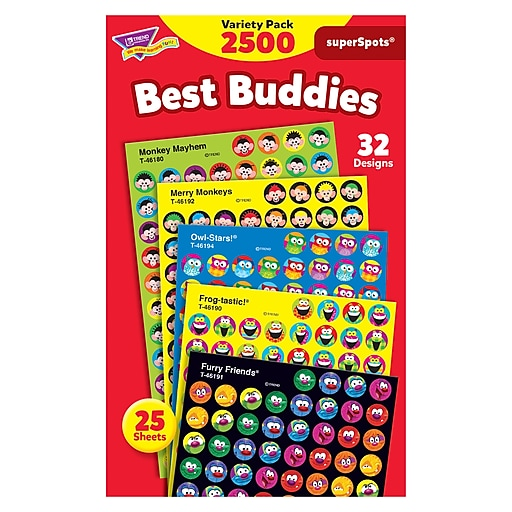 Trend Best Buddies Collection superSpots Variety Pack, 2500 CT (T-46919)