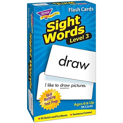 Trend® Skill Drill Flash Cards, Sight Words - Level 3