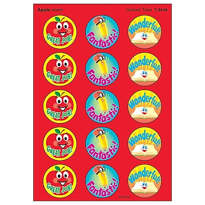 Trend Enterprises® Stinky Stickers, School Time/Apple