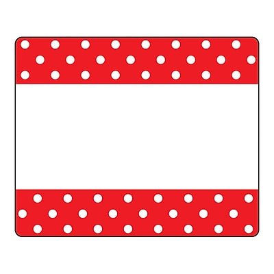 Trend Polka Dots Red Terrific Labels™, 36 per pack, bundle of 6 packs, 3