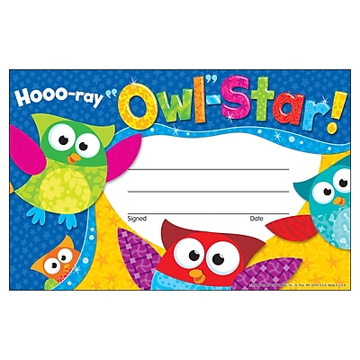 Hooo-ray Owl-Star! Recognition Awards 30/Pkg