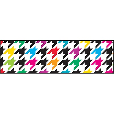 Trend Enterprises® Toddler - 12th Grade Bolder Border, Multicolor Houndstooth, 11/Pack