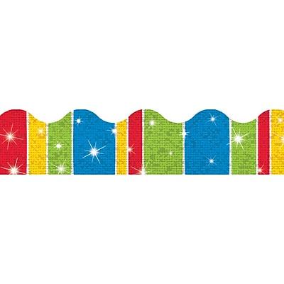 Trend Enterprises® Toddler - 12th Grade Sparkle Plus Terrific Trimmer, Cheerful Stripe-Tacular,10/PK