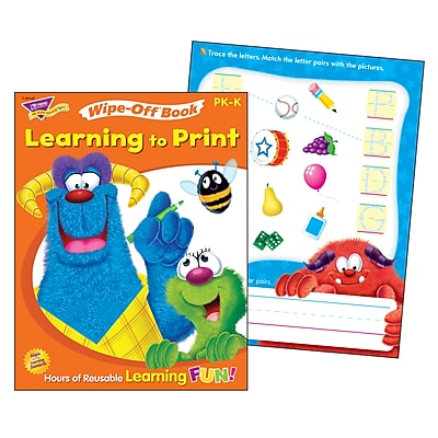 Learning to Print Furry Friends® Wipe-Off® Book for PK-K (T94145)