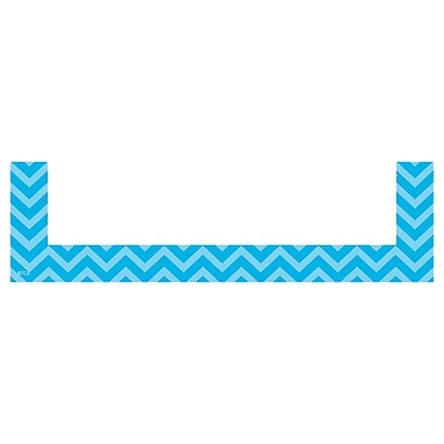 Teacher Created Resources Aqua Chevron Magnetic Pockets - Small, 8 Per Pack (TCR20729)