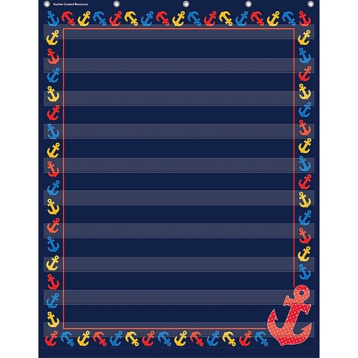 Teacher Created Resources 10 Pocket Pocket Chart, Anchors (TCR20779)