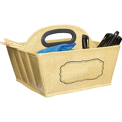 Teacher Created Resources Storage Caddy, Burlap (TCR20836)