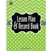 Teacher Created Resources Lime Chevrons and Dots 160 Pages Lesson Planner and Record Book, Each (TCR2384)