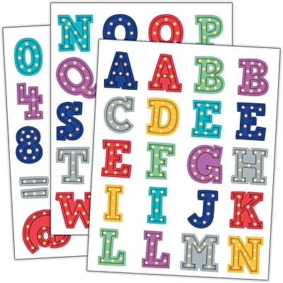 Teacher Created Resource Scribble Stars Mini Stickers, 378ct per pike, bundle of 6 packs (TCR3073)
