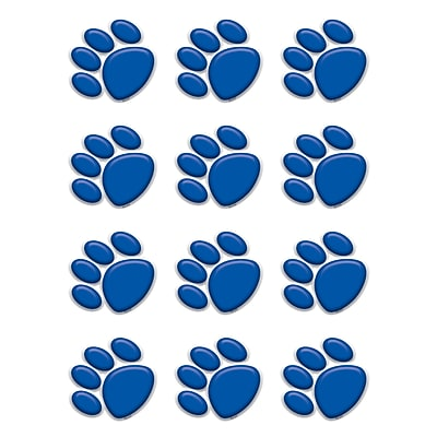 Teacher Created Resources Accents, Blue Paw Prints