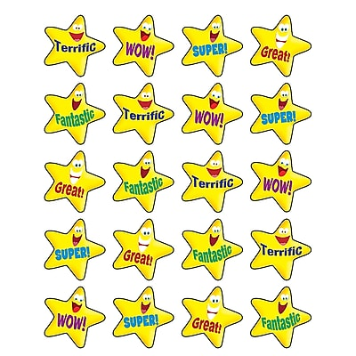 Teacher Created Resources Stickers, Encouraging Stars, 120/Pack