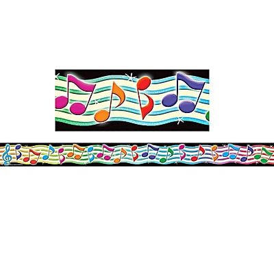 Musical Notes Straight Border Trim, 35
