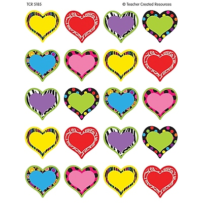 Teacher Created Resources Fancy Heart Stickers, 120/Pack