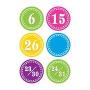 Teacher Created Resources Days Calendar, Bright Circles, 36/Pack