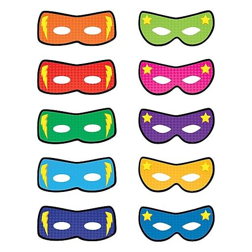 "Teacher Created Resources 6"" Superhero Masks Accents, Multicolor (TCR5591)"
