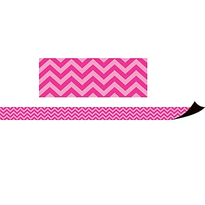 Teacher Created Resources Magnetic Borders, Hot Pink Chevron (24 x 1.5)