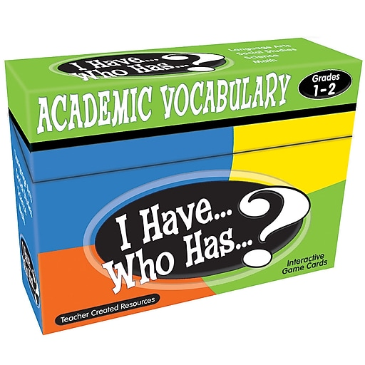 Teacher Created Resources I Have Who Has Academic Vocabulary Game, Grades 1 - 2 (TCR7840)