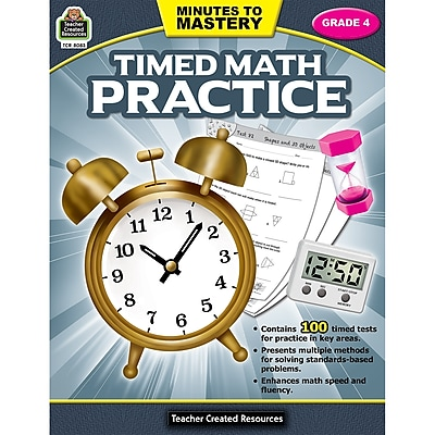 Teacher Created Resources Minutes to Mastery - Timed Math Practice Grade 4 (TCR8083)