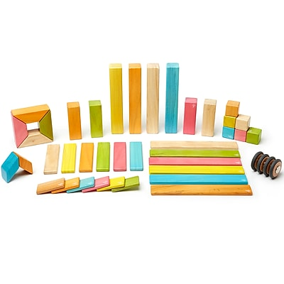 Tegu Wooden Blocks Tint Set, Assorted, 42