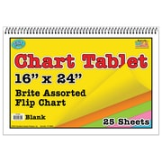 "Top Notch Teacher Products® 16"" x 24"" Blank Chart Tablet, 25/PD, 2 PD/BD"