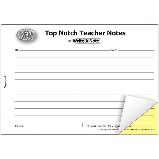 Top Notch Teacher Products Carbonless Write A Note, Ages 3-14 (TOP4921)