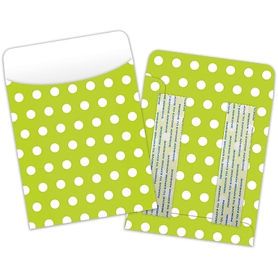 Top Notch Polka Dots Pockets, Green, Peel & Stick