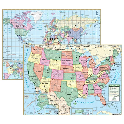 Kappa Map Group Universal Maps Usworld Primary Deskpad Map 5pack - Staples-us-map
