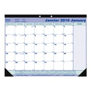 Blueline® – Calendrier sous-mains mensuel 2019, 21 1/4 po x 16 po, bilingue