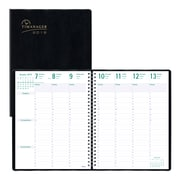 """Blueline 2019 Timanager Weekly Planner, 11"""" x 8-1/2"""", 7-Day Planner, Black, English"""
