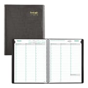 Brownline 2019 EcoLogix® Weekly Planner, Twin-Wire Binding, Black, English