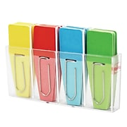 Clip-Rite® Solid Clip-Flag, Red/Blue/Yellow/Green, 8/Bundle