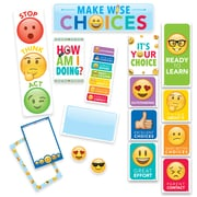 Creative Teaching Press Emoji Fun Behavior Clip Chart Mini Bulletin Board, 22/Set (CTP0596)
