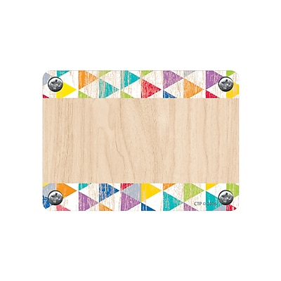 Creative Teaching Press, Upcycle Style Rustic Triangles Labels, Pack of 36 (CTP4578)