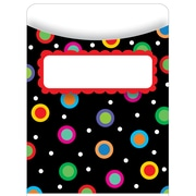 Creative Teaching Press® Library Pocket, Dots On Black