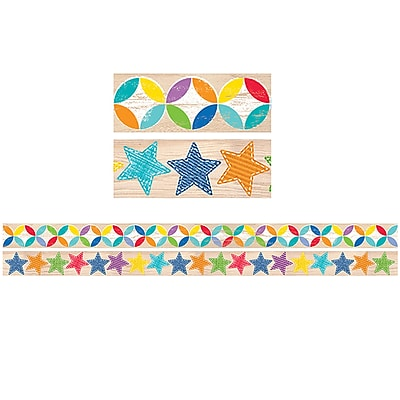 Creative Teaching Press CTP8934, Upcycle Style Border Strips Pack