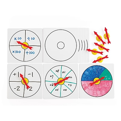 Learning Advantage Suction Spinners with Whiteboards, Set of 10 (CTU18001)