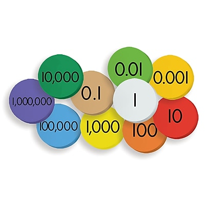 Essential Products® 10-Value Decimals to Whole Numbers Place Value Discs, 1