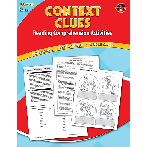 Edupress® Context Clues Reading Comprehension Book, Red Level