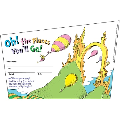 Eureka Awards, Dr. Seuss Oh! The Places You''ll Go